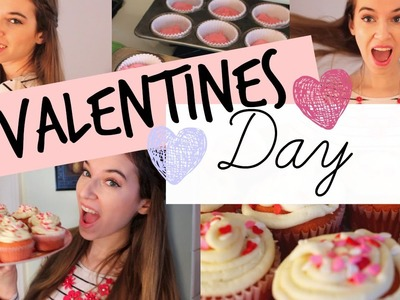 Valentines Day Makeup, Outfit + DIY Cupcakes!