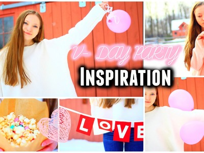 Valentines Day Party! Hair, Makeup, & Outfit! + DIY Snacks