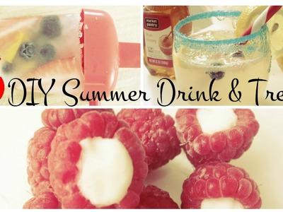 3 DIY Summer Drink & Treats