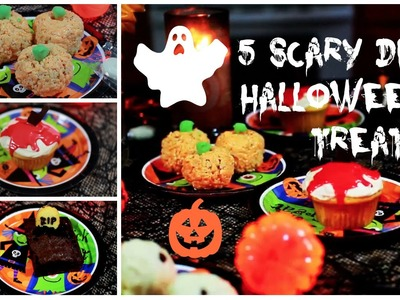 5 DIY HALLOWEEN TREATS SUPER FAST AND EASY! | PERFECT BEAUTY