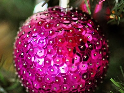 Create Easy Sequin Christmas Ornaments - DIY Home - Guidecentral