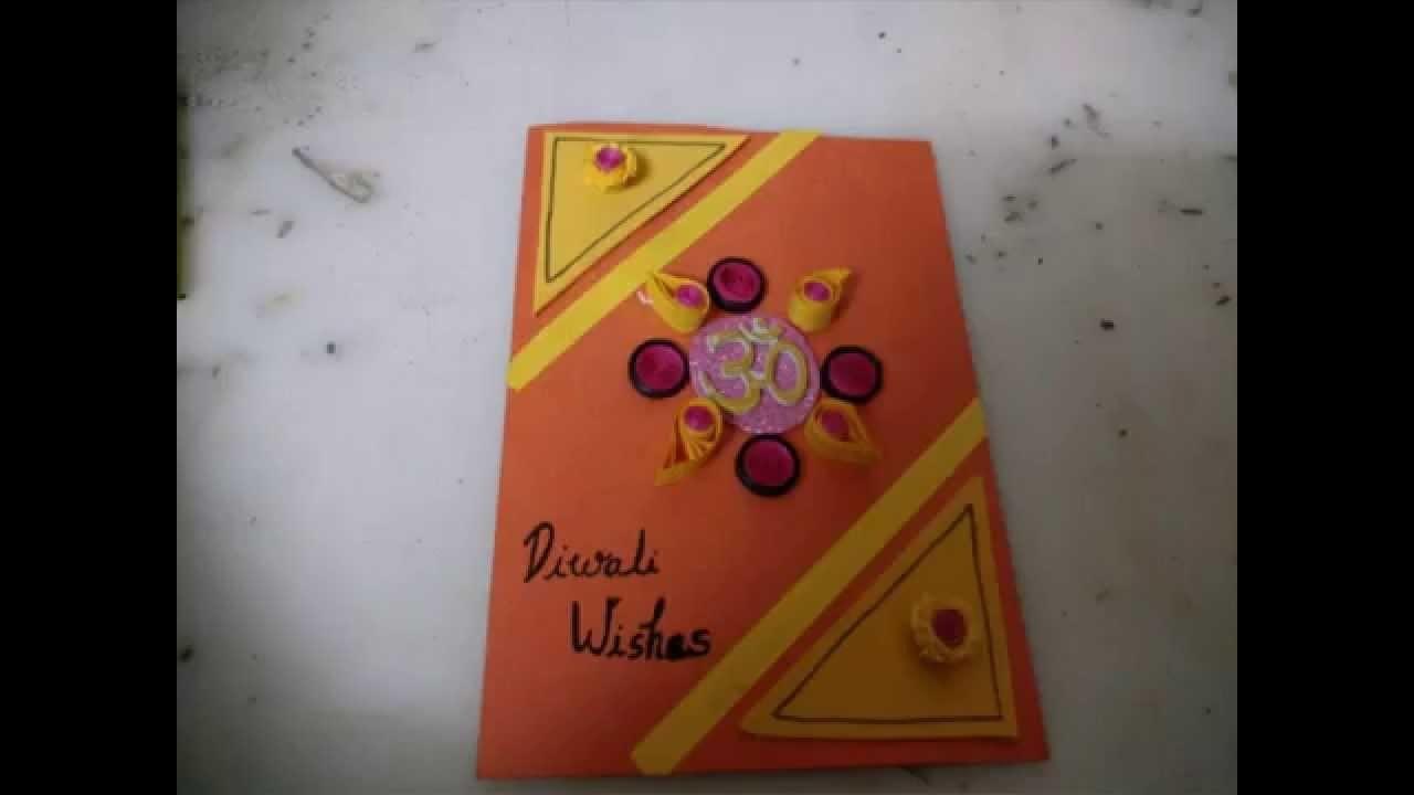 Diwali Card Making Idea For Kids.DIY Cardmaking
