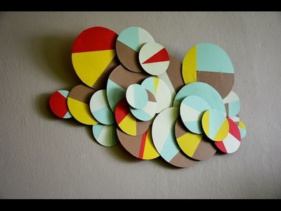 DIY - Awesome and Easy Wall Decorating Idea
