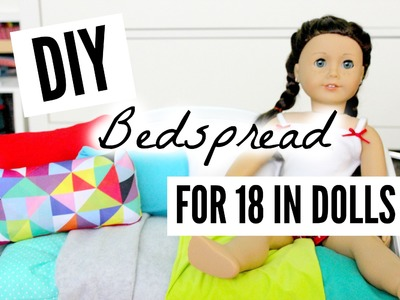 DIY Bedspread for American Girl Dolls (cheap!)