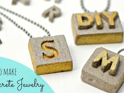 DIY Cement Jewelry