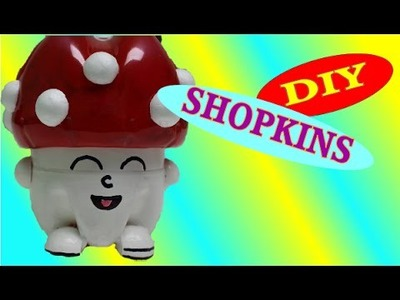 DIY Crafts: Shopkins Toys Miss Mushy-Moo - Recycled Bottles Crafts