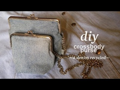 DIY CROSSBODY PURSE | A Denim Recycle