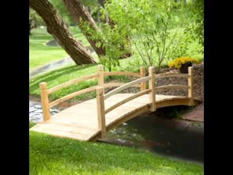DIY decorating Ideas for Small garden bridge