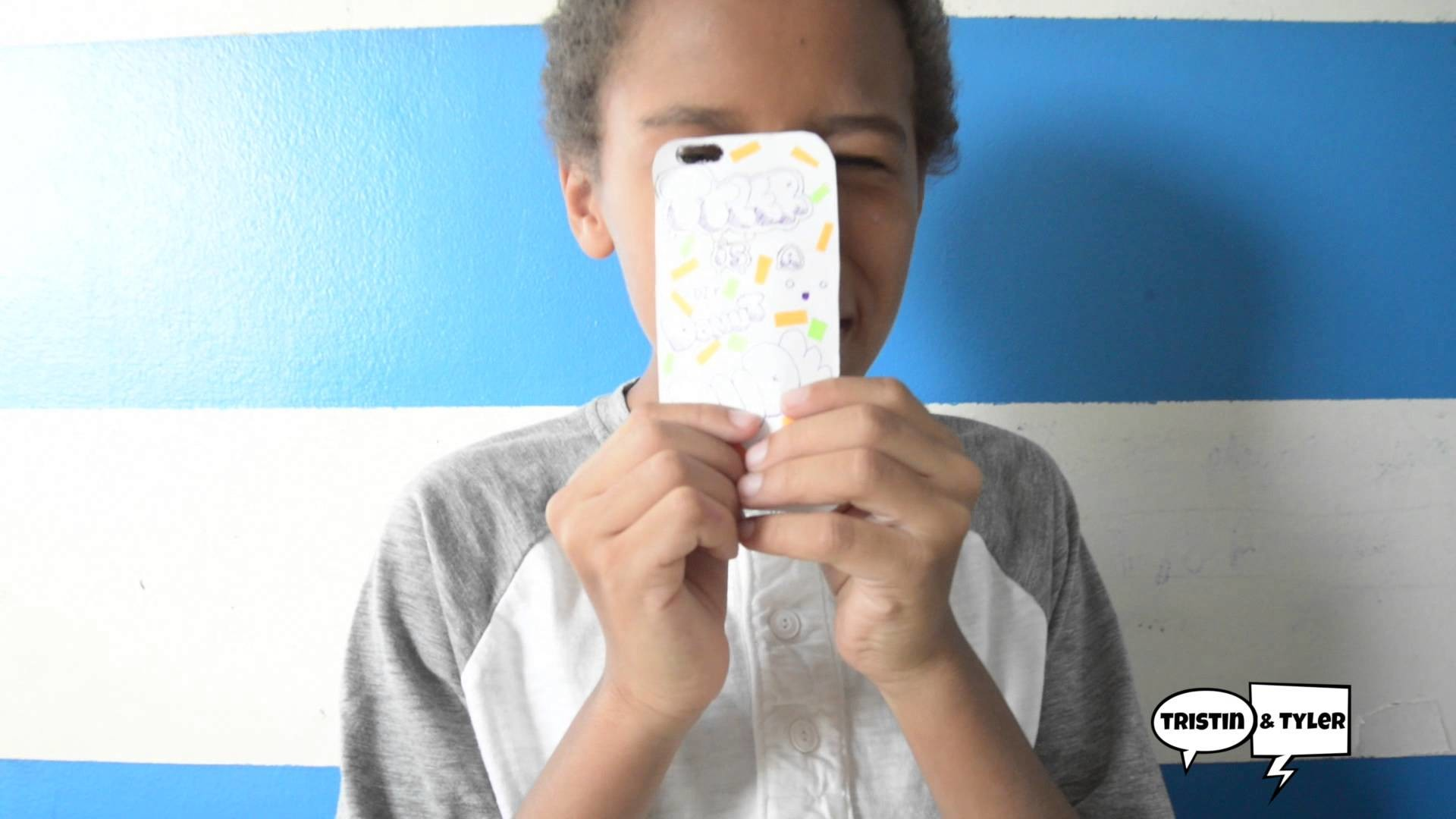 DIY DUDES - Phone Cases with your OWN ART! And the President Calls!