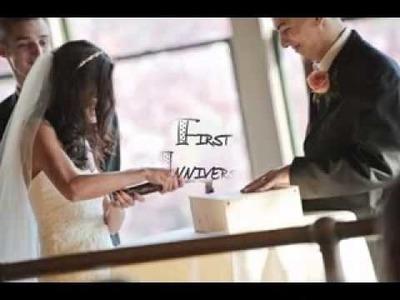 DIY First wedding anniversary party ideas