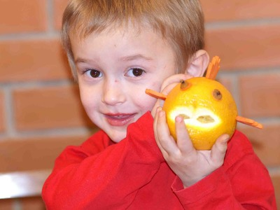DIY Fruit hand made articles for kids  Orange Fish