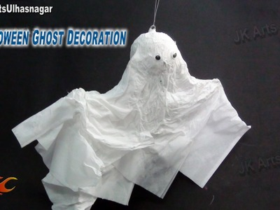 DIY Halloween Flying Ghost Decoration | How to make | JK Arts 751