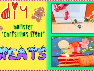 """DIY HAMSTER """"Christmas Light"""" Treats"""