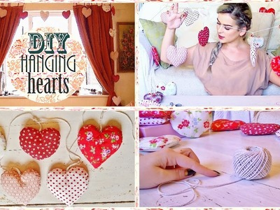 DIY - HANGING HEART ROOM DECORATION | LAUREN IVRY