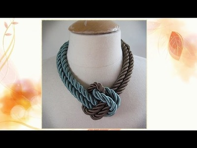 DIY : How To Make a Unique Rope Necklace - DIY Projects