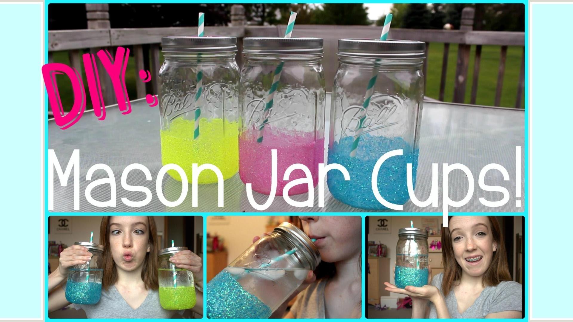 ◇ DIY: Mason Jar Cups! Super Easy & Affordable ◇