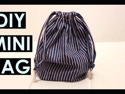 DIY mini drawstring bag from OLD PANTS