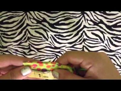 DIY No Sew Fabric Wrist Lanyard