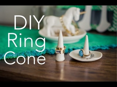 DIY RING CONE + DISH - quick, cheap, easy DIY