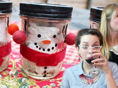 DIY Snowman Mason Jars for edible gifts