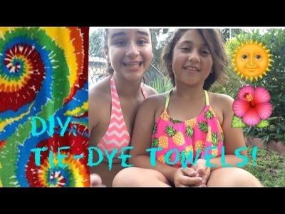 DIY: Tie Dye Towels || Flip9 Sissy