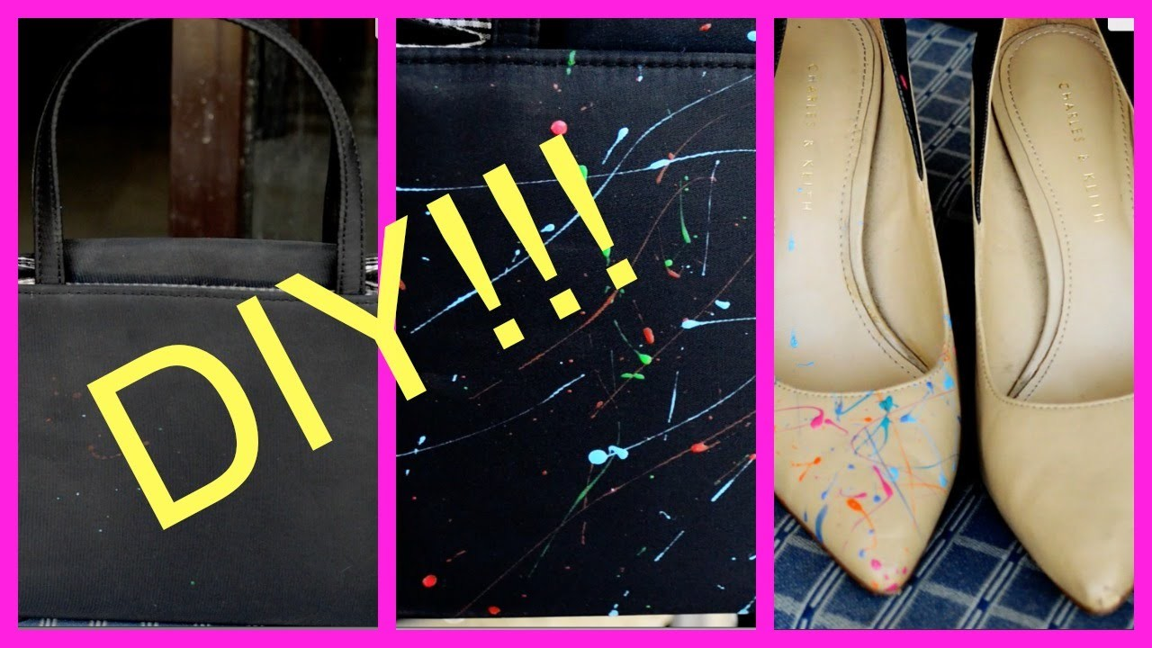 DIY!!! Transform your boring handbag.shoes into fun!!