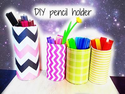 Easy Colorfull DIY pencil holder.