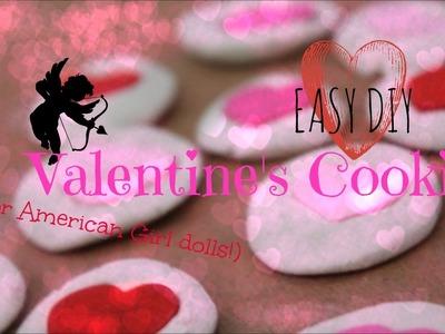 Easy DIY American Girl Valentine's Day Cookies!