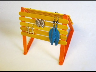 Easy & Inexpensive DIY: Popsicle Sticks Jewelry Holder
