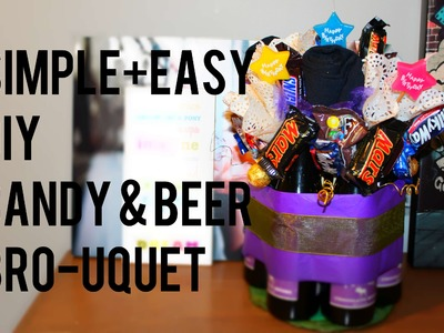 Fathers day DIY candy+beer bouquet. Simple+easy.