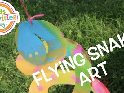 Flying Snake Art -- Easy Activity for Kids Using a Paper Plate!