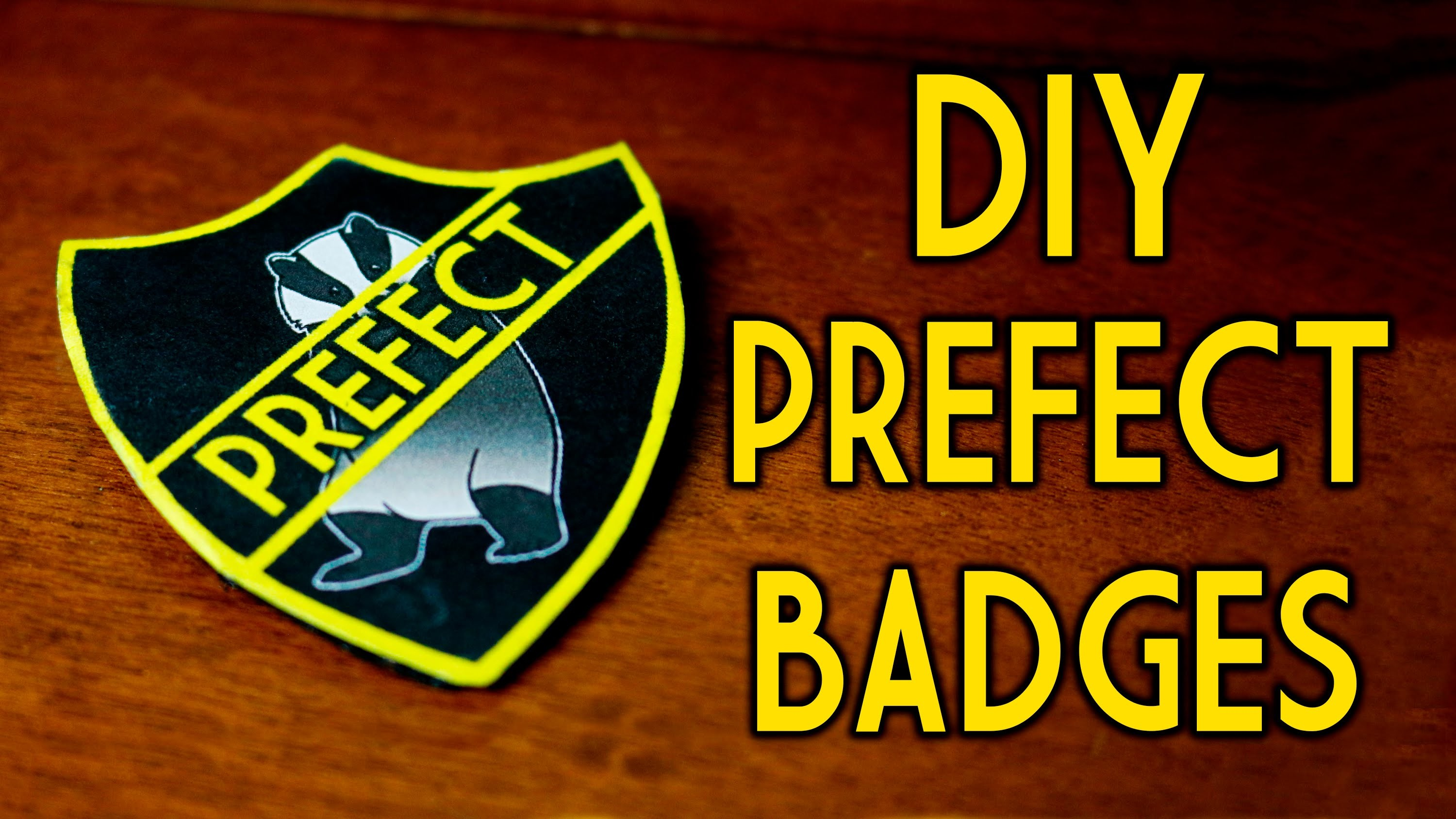 Harry Potter Prefect Badges Diy