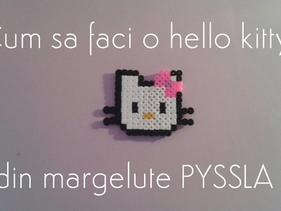 Hello Kitty din margelute PYSSLA- DIY
