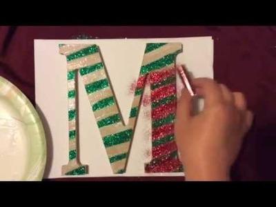 Holiday DIY: Monogram Christmas Door Hanger.