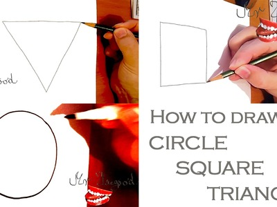 How to draw a Perfect CIRCLE, SQUARE, TRIANGLE Easy, draw easy stuff but cool
