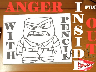 How to draw ANGER from INSIDE OUT characters Disney Easy,draw easy stuff, PENCIL, SPEED ART