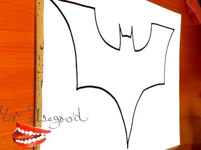 How to draw Batman Logo EASY | Superheroes Logos, draw easy stuff but cool,SPEED ART,#1.2