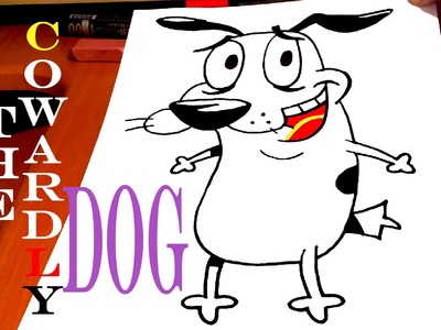 How to draw COURAGE The Cowardly Dog EASY, Pencil, draw easy stuff but cool | SPEED ART
