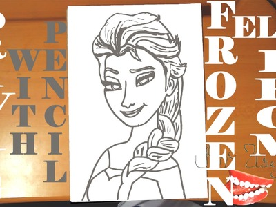 How to draw ELSA from FROZEN FEVER Easy DISNEY,draw easy stuff but cool.cute,PENCIL,SPEED ART