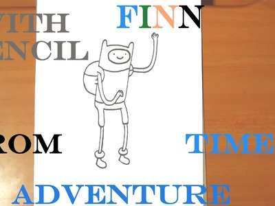 How to draw FINN The Human EASY from Adventure Time, draw easy stuff, PENCIL, SPEED ART
