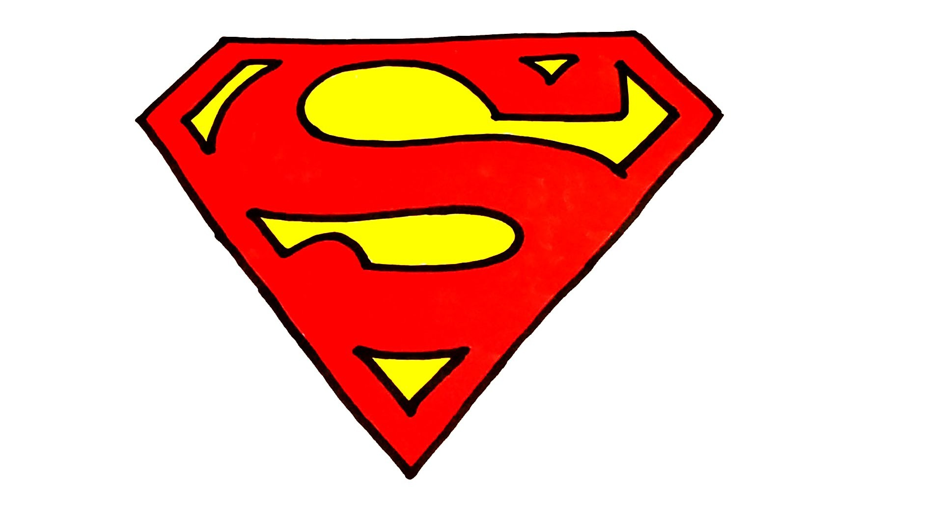 how to draw superman logo step by step easy superheroes logos draw