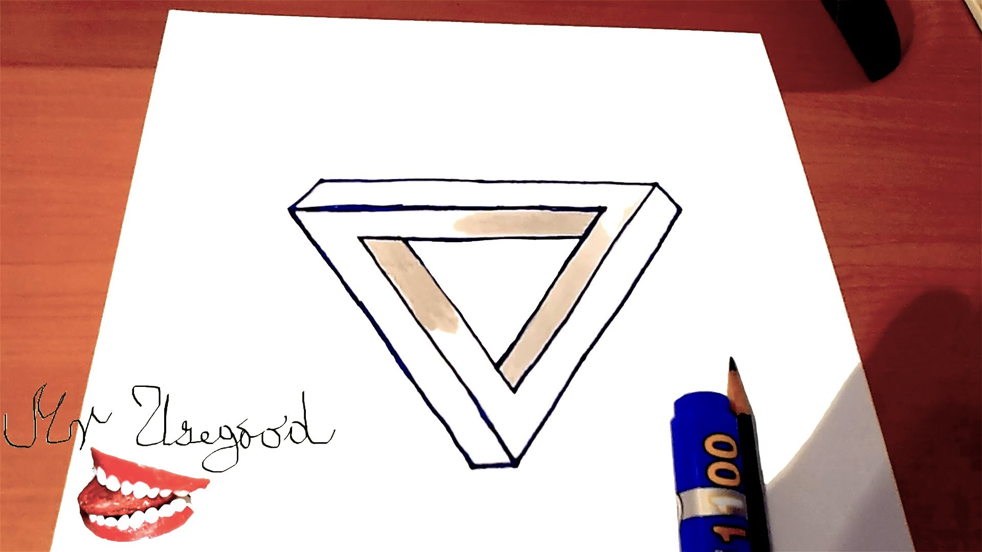 How To Draw The Impossible Triangle Step By Step Easy