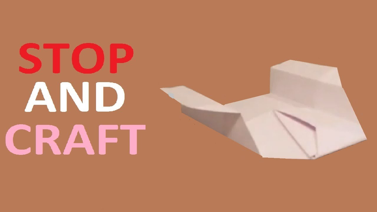 How to make a Paper Origami Lifting Body Plane B2 Stealth Bomber