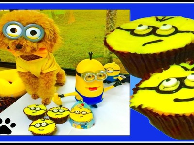 How to make MINION PUP CAKES CUPCAKES - DIY Dog Food by Cooking For Dogs