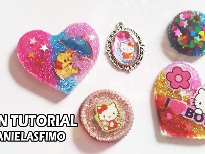 HOW TO MAKE RESIN PENDANTS | DIY SWAP WITH ANIELASFIMO