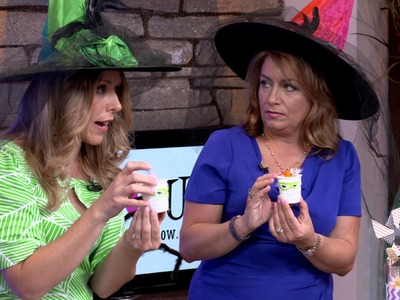Laura shows Spook-tacular DIY Crafts On Live It Up With Donna Drake