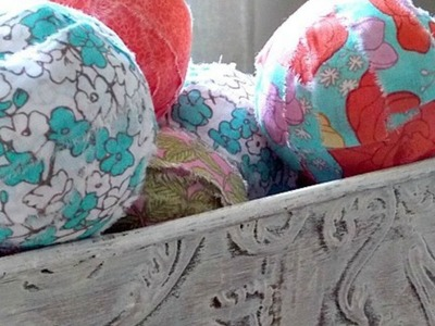 Make Pretty Fabric Covered Balls - DIY Home - Guidecentral