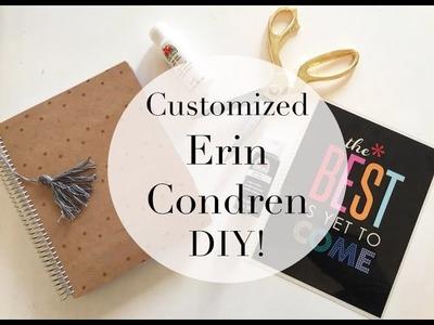 My Erin Condren Planner Customized   DIY Cover, Tassel & More!