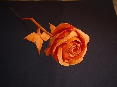 Origami. Paper rose. How to make an origami rose