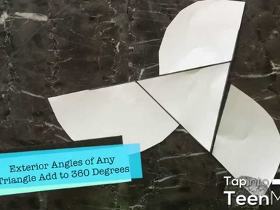 Sum of the Exterior Angles of a Triangle Proof | Paper Cutting Activity